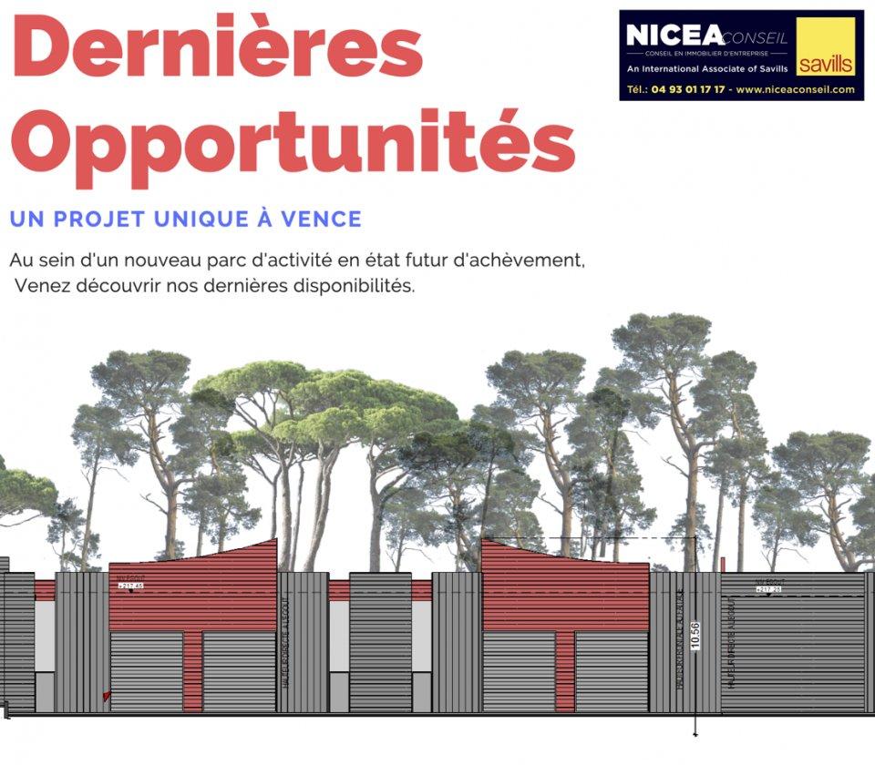LOCAL D'ACTIVITE - ENTREPOT à Vendre à VENCE (06) à 440 000 Euros HT